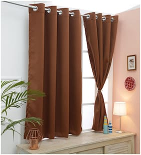 Cliths 2 Panels Monk's Robe Room Darkening Blackout Curtains for Window (137 cm (54 inch) x 152 cm (60 inch))