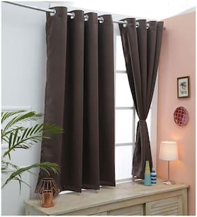 Cliths Dark Grey 2 Panel Dark Grey Blackout Curtains For Window (137 cm (54 Inch) x 152 cm (60 Inch))