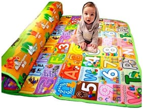 Cmerchants Kids World Polyester Baby Play Mat  (Multicolor, Extra Large)