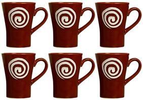 96a0de2b4dd Coffee Mug Ceramic/Stoneware in Brown & White Doodle Platform (Set of 6)