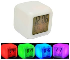 Color Change Led Alarm Elecsera Clock Calendar Temperature Desktop Digital Clocks Table Backlight Light
