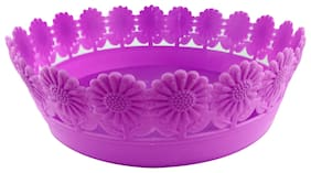 Colorful Lace Fruit Plate (Purple)
