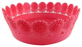 Colorful Lace Fruit Plate (Pink)