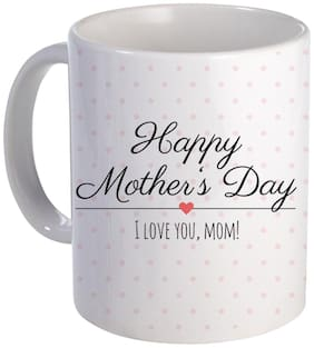 Coloryard Best Happy Mothers Day I Love You Mom Cute Design On White Ceramic Coffee Mug Mother Day Gift