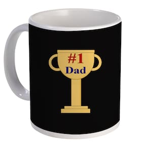 Coloryard Best Number 1 Dad Design On White Ceramic Coffee Mug Father Day Gift