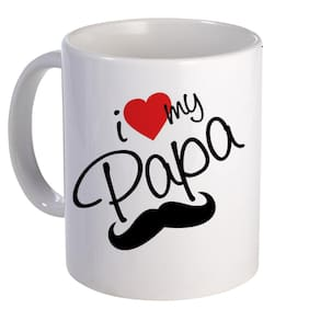 Coloryard Best I Love My Papa Design On White Ceramic Coffee Mug Father Day Gift