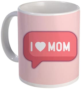 COLORYARD best happy mother's day design with I love u mom on white ceramic coffee mug gift