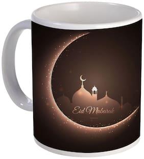Coloryard Best Eid Mubarak And Dark Mosque Creative Design Ceramic Coffee Mug For Eid Gift