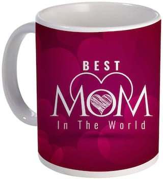 Coloryard Best Mom In The World With Cute Design On White Ceramic Coffee Mug Mother Day Gift