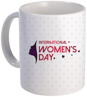Coloryard Best International Womens Day With Womens Face Scratch Design On White Ceramic Coffee Mug