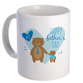 Coloryard Best Happy Fathers Day With Heart Design On White Ceramic Coffee Mug Father Day Gift
