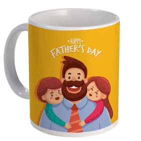Coloryard Best Happy Fathers Day With Childrens Design On White Ceramic Coffee Mug Father Day Gift