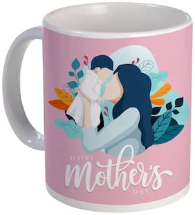 Coloryard Best Happy Mothers Day With Mom And Son Design On White Ceramic Coffee Mug Mother Day Gift