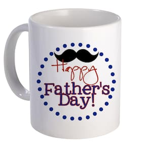 Coloryard Best Happy Father Day With Black Statue Design On White Ceramic Coffee Mug Father Day Gift