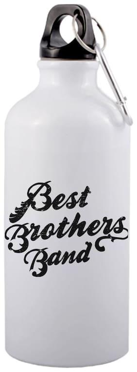 COLORYARD Aluminium White & Black Water Bottle ( 600 ml , Set of 1 )