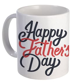 Coloryard Best Happy Fathers Day Cute Text Design On White Ceramic Coffee Mug Father Day Gift