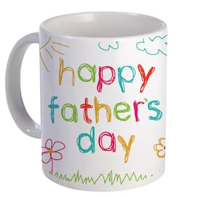 Coloryard Best Happy Fathers Day With Cute Design On White Ceramic Coffee Mug Father Day Gift