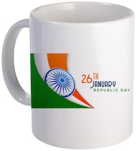 Coloryard Best 26Th January Happy Republic Day Design With Tiranga Design On Ceramic Coffee Mug