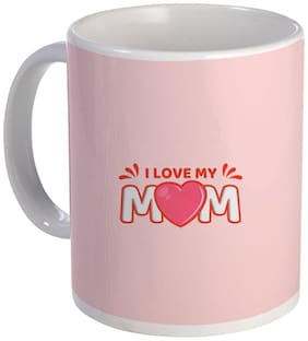 COLORYARD best happy mother's day design with I love my mom message on white ceramic coffee mug gift