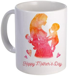 Coloryard Best Happy Mothers Day With Son And Mother Pic Design On White Ceramic Coffee Mug Mother Day Gift