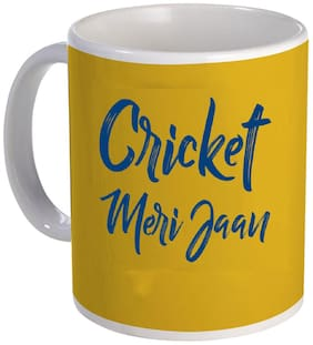 Coloryard Best Cricket Meri Jaan Mumbai Indians IPL Slogan Design Ceramic Coffee Mug