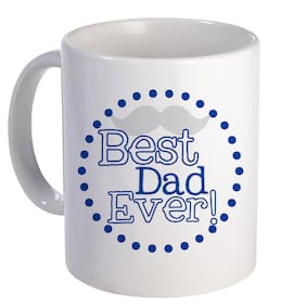 Coloryard Best Dad Ever Quote Design On White Ceramic Coffee Mug Father Day Gift