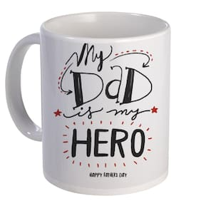 Coloryard Best My Dad Is My Hero Happy Fathers Day Design On White Ceramic Coffee Mug Father Day Gift