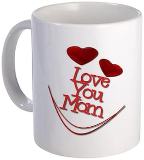Coloryard Best Love You Mom With Small Heart Design On White Ceramic Coffee Mug Mother Day Gift