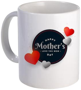 COLORYARD best happy mother's day red hearts frames background design on white ceramic coffee mug gift
