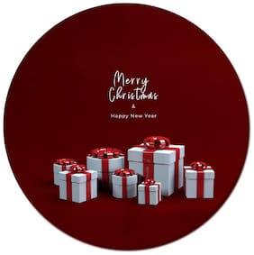 COLORYARD circle wooden coaster gift-box-merry-christmas design for new year gift