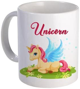 Coloryard Cute Baby Unicorn Fantasy Character Design On White Ceramic Coffee Mug Unicorn Gift