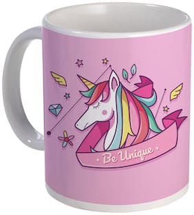 Coloryard Flat Unicorn Head Background Design With Quotes On White Ceramic Coffee Mug Unicorn Gift