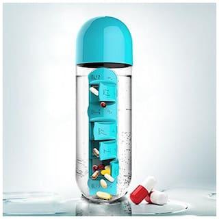 Kihika Acrylic Assorted Water Bottle ( 600 ml , Set of 1 )