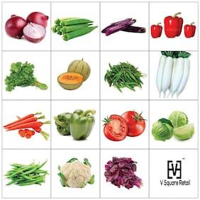 Combo Of Fifteen Winter Kitchen Garden Hybrid Seeds Vegetable Seeds