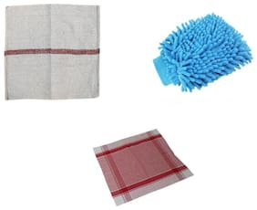 Combo of Kitchen Duster, Gloves and Cleaning Pocha