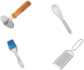 Kitchen4U Stainless steel Assorted Kitchen Tool Combos ( Set of 4 )