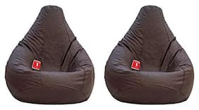 COMBO OFFER Ink Craft SET OF TWO BROWN XL BEAN BAG COVER ONLY