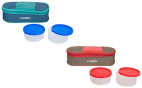 Carrolite 4 Containers Plastic Lunch Box - Assorted