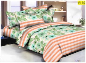 COMFYLISH Microfiber Abstract Queen Size Bedsheet ( 1 Bedsheet With 2 Pillow Covers , Assorted )