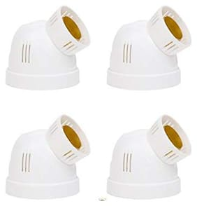CONA 4231 Dome Adjustable Holder with OBR;White - Pack of 4|OBR Adjustable Holder|Bulb Holder|Fancy Dome Holder for Bulb|Adjustable Bulb holder for Home;Office;Shops;etc