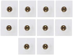CONA 9841 GRAND Modular Polycarbonate Batten Holder for Home;Office;Shops;6 Ampere;White - Pack of 10