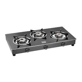 Cookplus 3 Burners Stainless Steel Gas Stove - Black