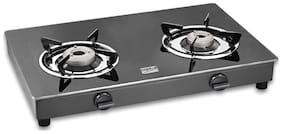 Cookplus 2 Burners Stainless Steel Gas Stove - Black