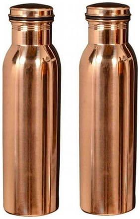 V G shopping cart 1000 ml Copper Copper Water Bottles - Set of 2