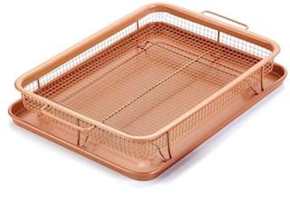 GTC (278-15) Copper Crisper as Oven Air Fryer- Multi-Purpose Non-Stick Baking Frying Tray & Basket