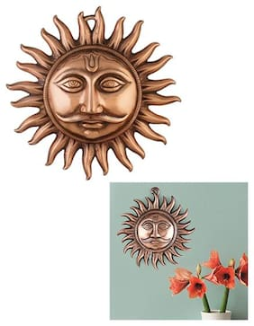 Copper Made Hanging Sun Idol/Copper Hanging Surya Idol For Vastu;Good Luck;Success And Prosperity/Hanging Sun Idol For Positive Energy