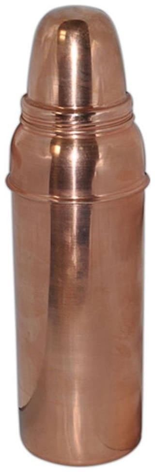 Hand-e-Crafts 750 ml Copper Brown Water Bottles - Set of 1
