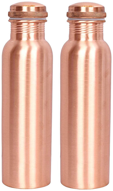 BOTTLES Copper Brown Water Bottle   900 ml , Set of 2