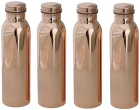 DVM Copper Brown Water Bottle ( 1000 ml , Set of 4 )