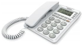 Corded Landline Phone Uniden At6408 White With Speakerphone & Caller Id
